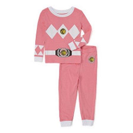 Power Ranger 'Mighty Morphin Pink Ranger' Cotton Costume Pajama Set