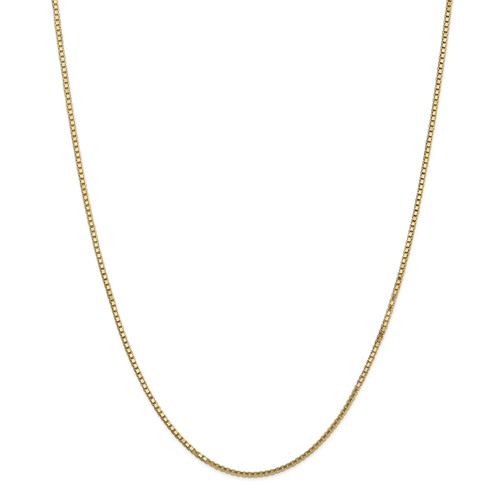 14k Yellow 20in Gold 1.5mm Box Necklace Chain by Jewelrypot