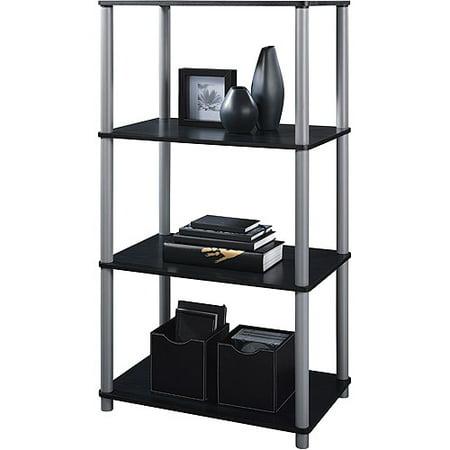 Mainstays 4 Shelf Bookcase Black Walmart Com