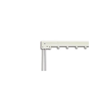 Super Heavy Duty Traverse Curtain Rod 66-120 Inch, White (One Way Draw: - Super Duty Replacement Window