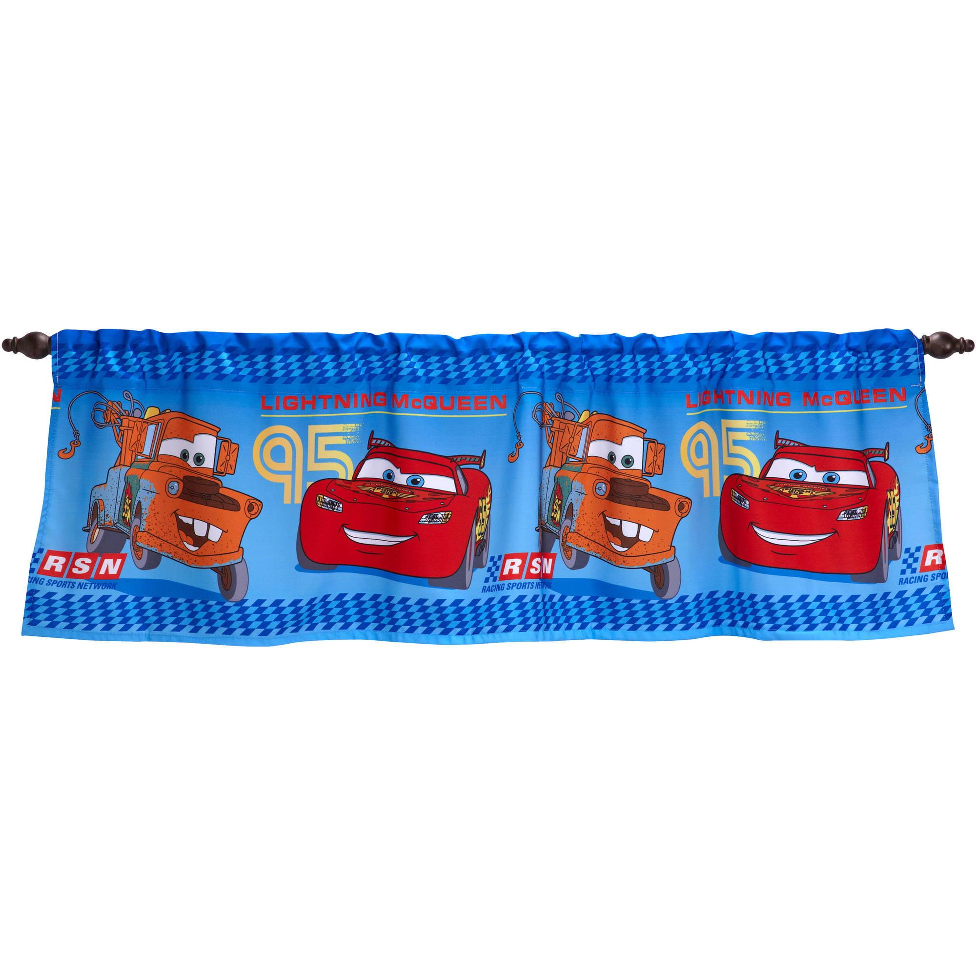 Disney Cars Boys Bedroom Curtain Valance