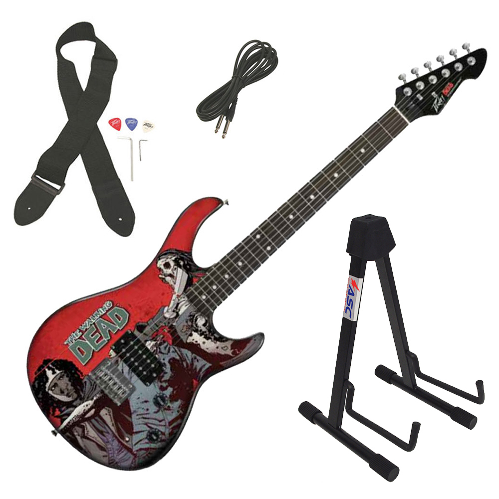 Peavey Rockmaster The Walking Dead Michonne Slash Electric Guitar & Stand New