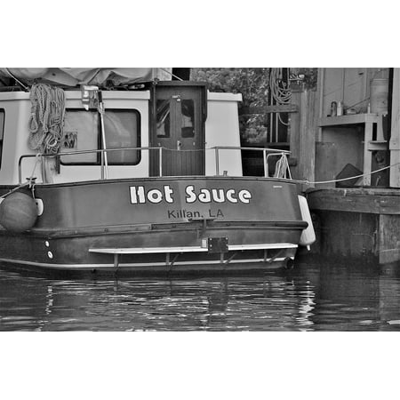 LAMINATED POSTER Boat Leisure Vessel Pleasure Craft Water Hot Sauce Poster 24x16 Adhesive Decal