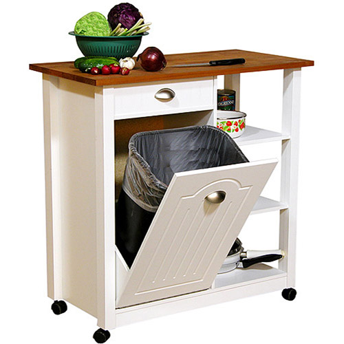 butcher block basic kitchen cart - walmart