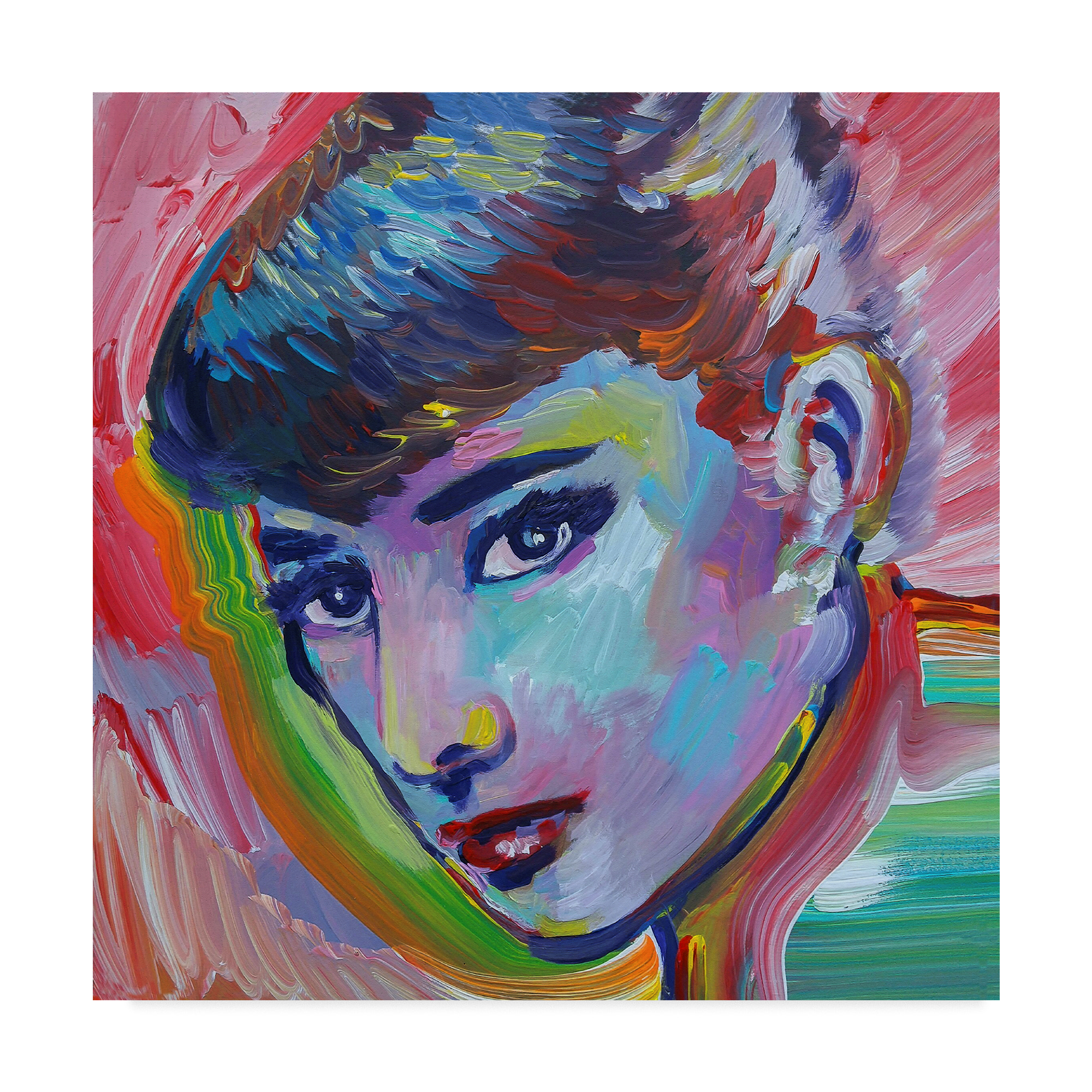 Trademark Fine Art 'Audrey Hepburn Portrait' Canvas Art by Howie Green