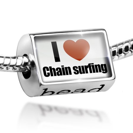 Bead I Love chain surfing Charm Fits All European - Surf Bracelets