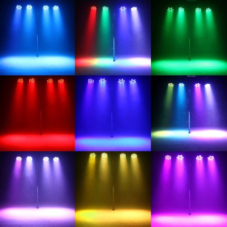 Par Lights 36 LED Remote and DMX Control Stage Party Lights Sound Activated RGB - image 6 of 7