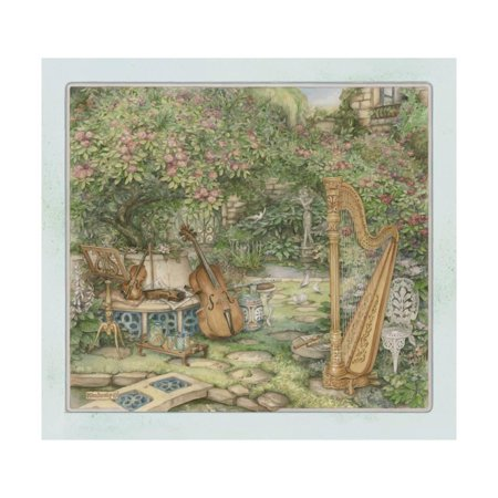Music in the Garden Print Wall Art By Kim Jacobs