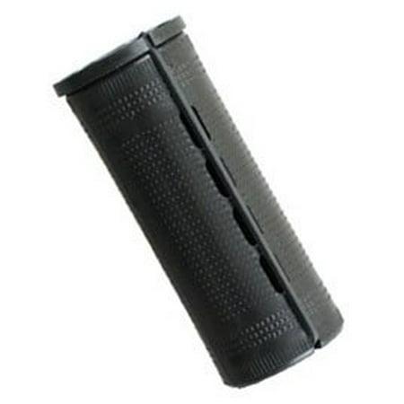 Jumbo Concave Perm Rods * Black * 1 1/4