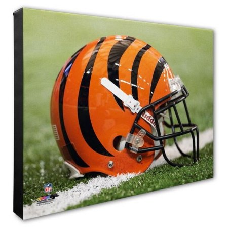Nfl Hand Signed 16x20 Photograph - Photo File Cincinnati Bengals Team Helmet Canvas Print Picture Artwork 16x20 NFL