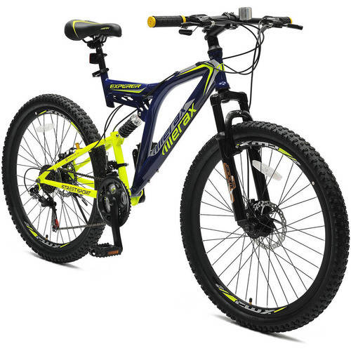 "26"" Merax Full Suspension 21 Speed Mountain Bike with Disc Brake"