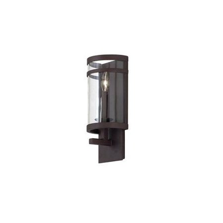Bronze Morris 1 Light Ada Compliant Flush Mount Wall Sconce