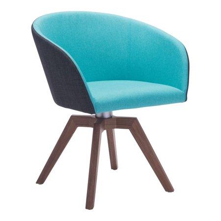 Sensational Modern Contemporary Swivel Dining Chair Set Of 2 Blue Fabric Inzonedesignstudio Interior Chair Design Inzonedesignstudiocom
