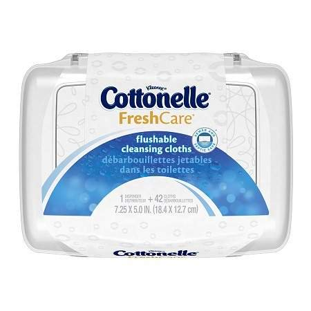 Cottonelle Fresh Care Flushable Moist Wipes Tub 42.0 ea (Pack of 4)