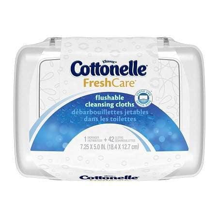 Cottonelle Fresh Care Flushable Moist Wipes Tub 42.0 ea (Pack of 4) Cottonelle Fresh Flushable Wipes
