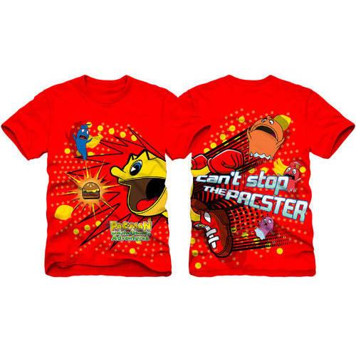 Pac-Man Wrap Around Print Boys Short Sleeve Graphic Tee
