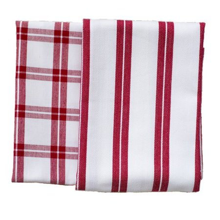 Rue Montmartre Checker Stripe 2 Piece Els Cotton Kitchen Towel Set