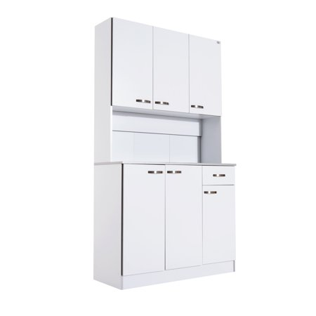 """71"""" Buffet Server Microwave Storage Cabinet Hutch- White - image 5 of 7"""