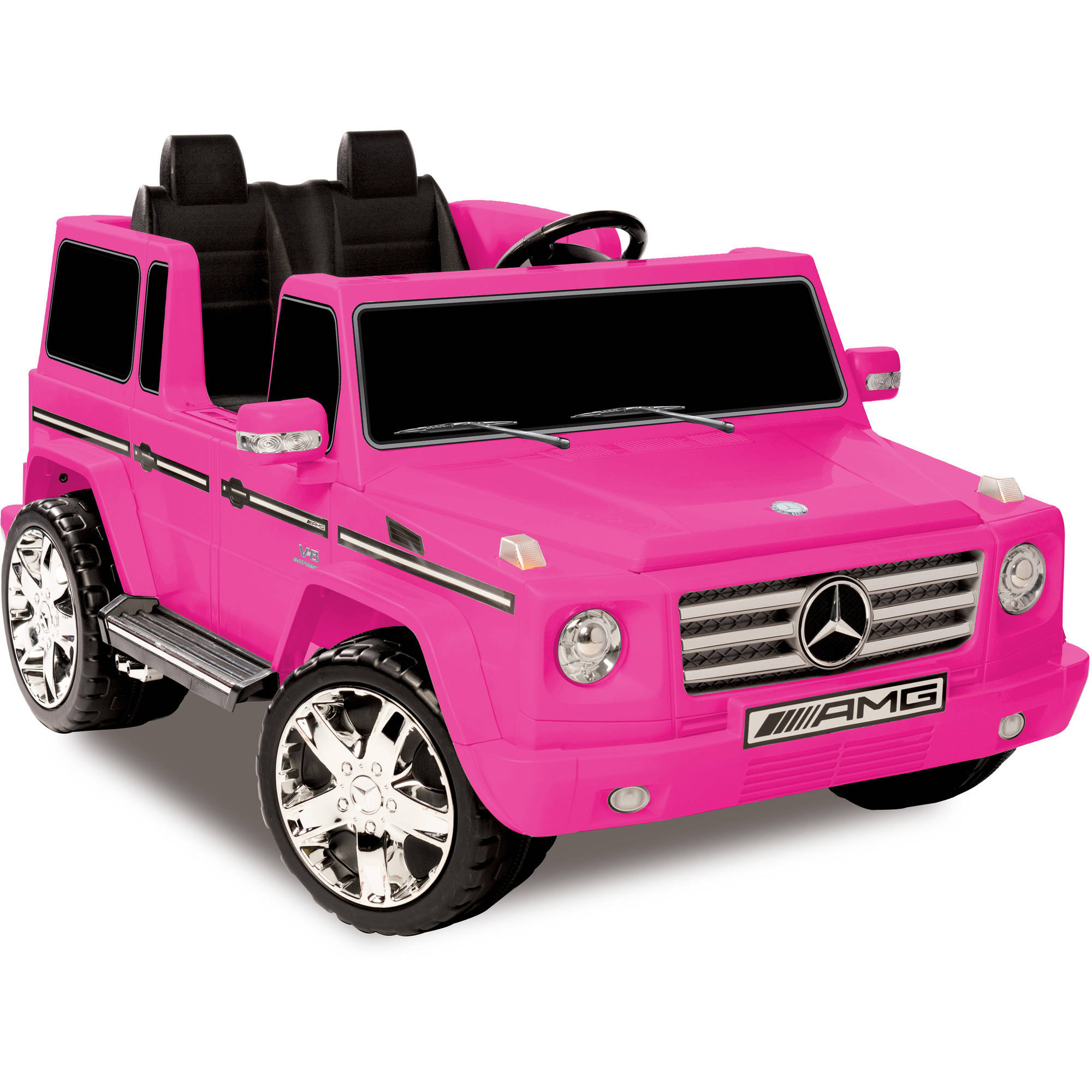 Kid Motorz 12V Mercedes Benz G55 AMG Two-Seater Ride-On, Pink by National Products Ltd