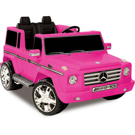 Mercedes Amg Wheel - Kid Motorz 12V Mercedes Benz G55 AMG Two-Seater Ride-On, Pink