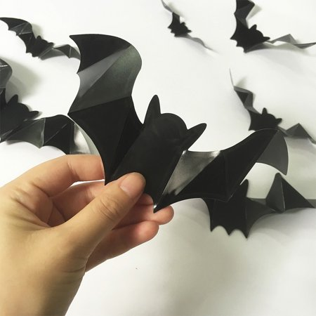 Luminous Bat Wall Stickers Halloween Decor Bedroom Decorative Art Wallpaper](Happy Halloween Wallpapers Hd)