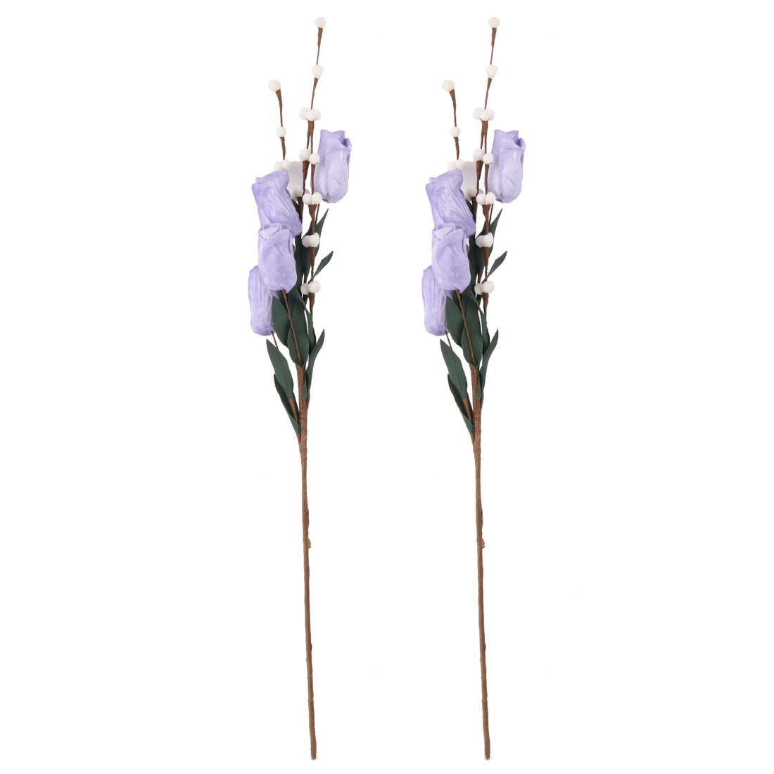 Living Room Garden Foam Tulip Shaped Table Decor Artificial Flower Purple 2 Pcs - image 4 of 4