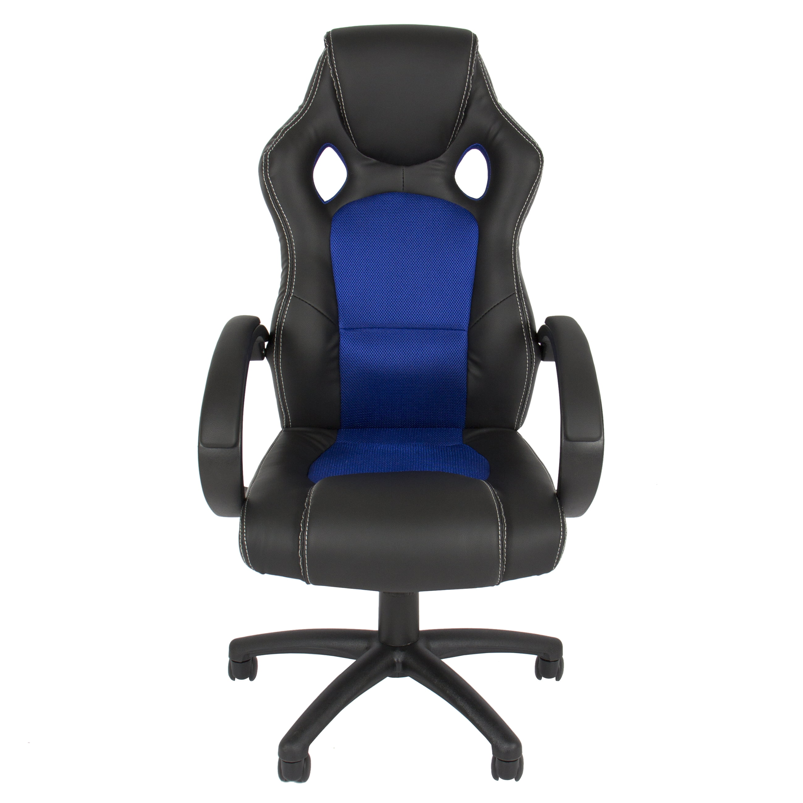 bcp executive racing gaming office desk chair pu leather swivel
