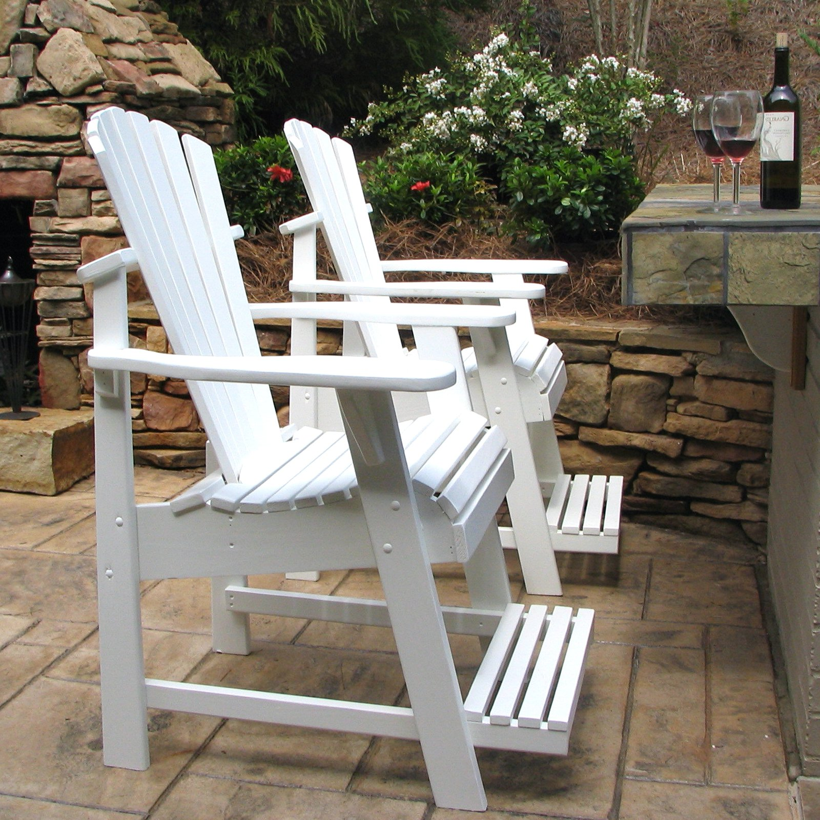Weathercraft Designers Choice Painted Balcony Adirondack Chair with Footrest