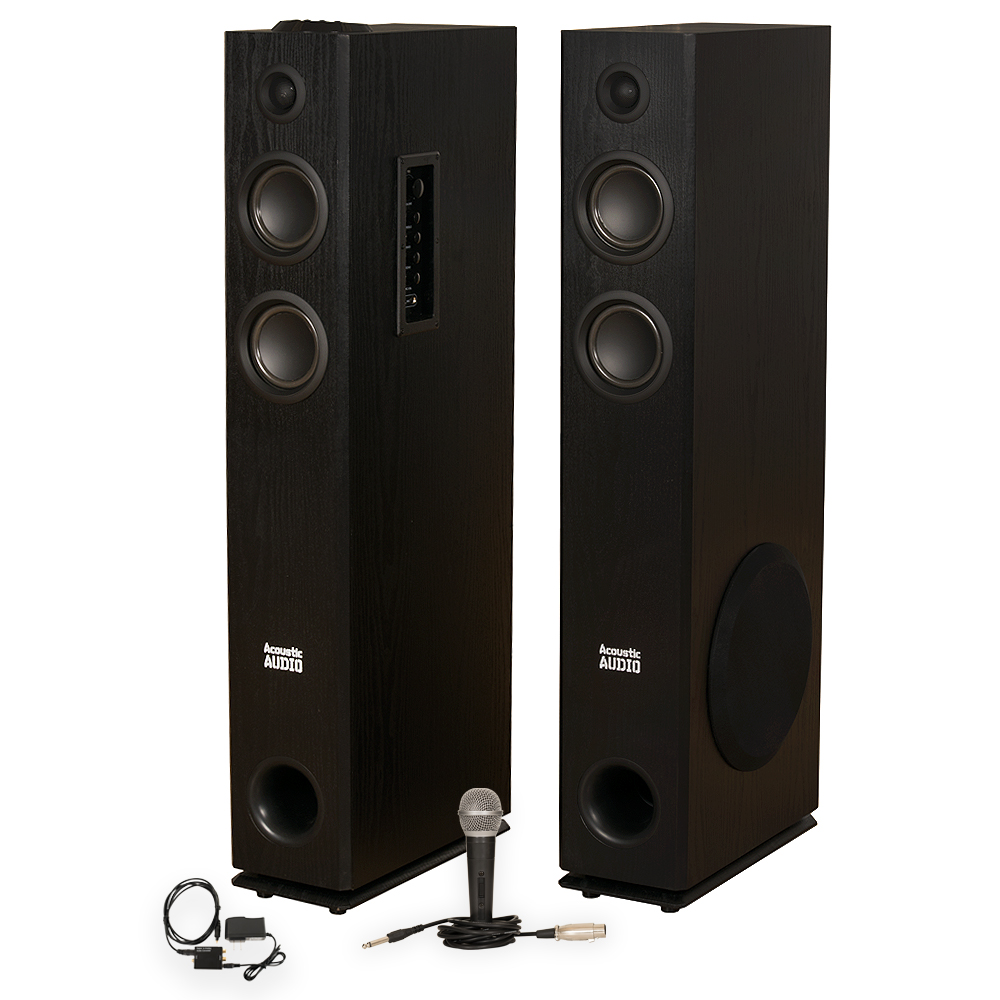 Acoustic Audio TSi300 Bluetooth Powered Floorstanding Tow...