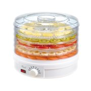 Rosewill Countertop Portable Electric Food Fruit Dehydrator Machine with Adjustable Thermostat, BPA-Free, 5-Tray, RHFD-15001