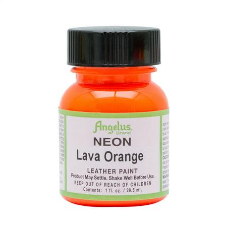 - Angelus® Neon Leather Paint, 1 oz., Lava Orange
