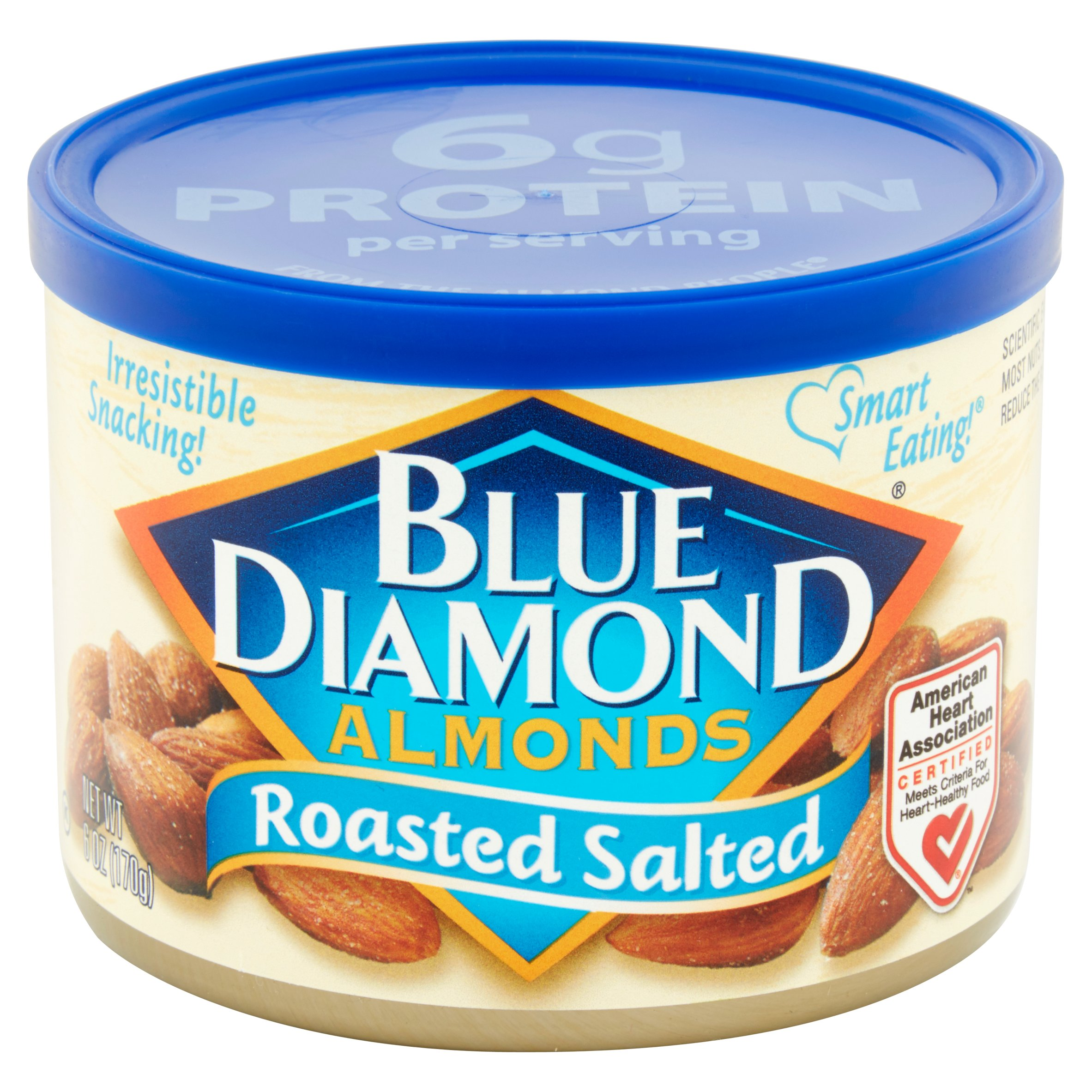 Blue Diamond Almonds Roasted Salted 6 oz. Canister - Walmart.com