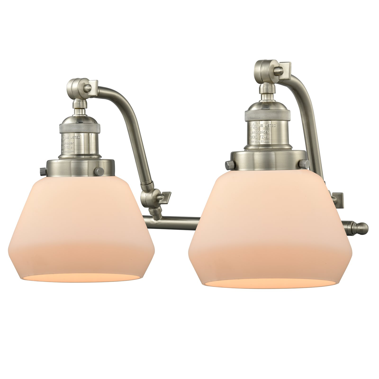 """Innovations 2-LT LED Fulton 18"""" Bathroom Fixture Brushed Satin Nickel 515-2W-SN-G171-LED by"""