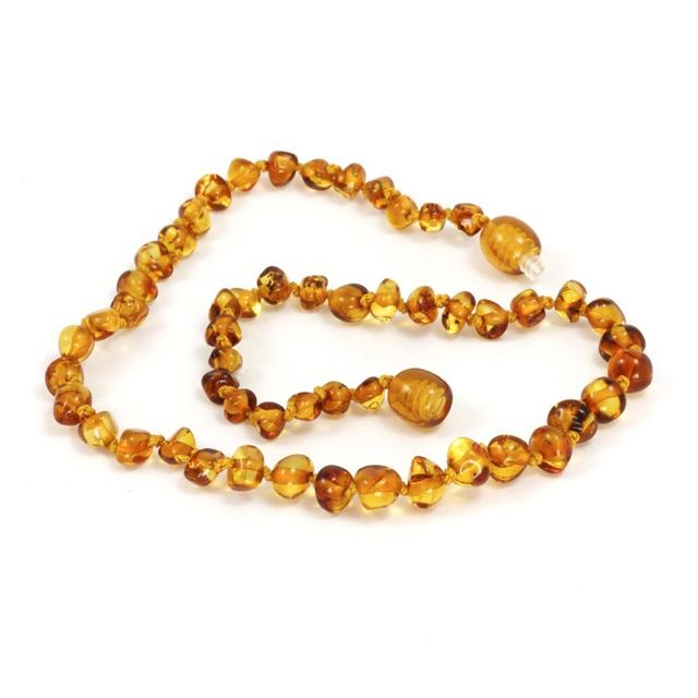 Baltic Amber Baby Teething Necklace in Honey, Small