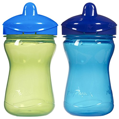 4 Pack Playtex 9oz 2ct Plastic Baby Spill Proof Sippy Spout Cup Colors May Vary
