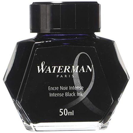 Waterman Intense Black Fountain Pen Bottled Ink