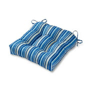Kinnabari Stripe 20 in. Square Plush Outdoor Chair Cushion