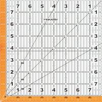 "Fiskars 8.5"" x 8.5"" Easy-to-Read Square Acrylic Ruler"