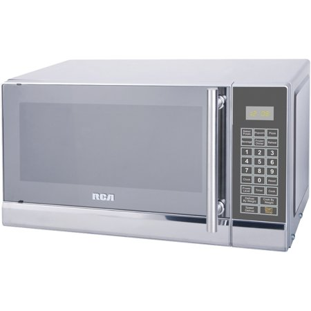 RCA 700 Watts 0.7 Cu. Ft. Stainless Microwave RMW741 Stainless (Rca 0-7 Cu Ft Microwave Stainless Steel)