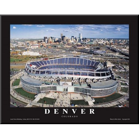 Dever Broncos- New Invesco Field Mounted Print - 28x22