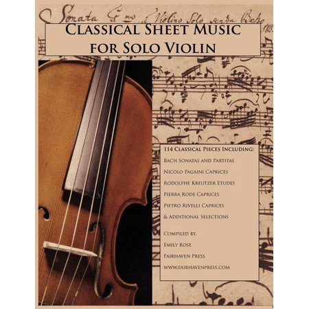 Classical Sheet Music for Solo Violin (Paperback) Classical Soprano Sheet Music