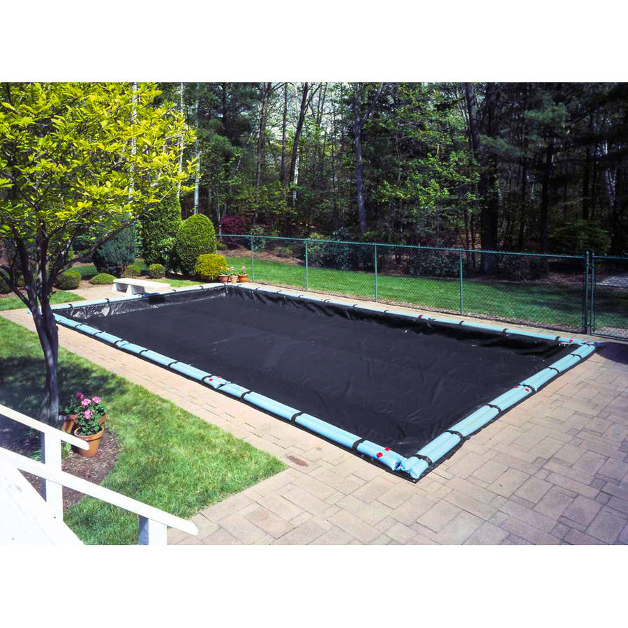 Pool Mate 10 Year Heavy-Duty Silver In-Ground Winter Pool Cover, 16 x 36 ft. Pool
