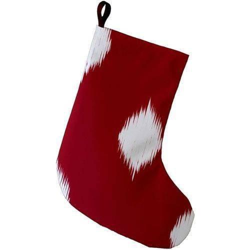 E By Design Simply Daisy, 9 x 16, Hol - I - kat, Decorative Holiday Ikat Print Stocking