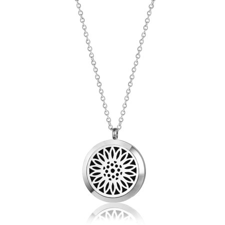 Anavia Sunflower Aromatherapy Jewelry Essential Oil Necklace With Gift Box