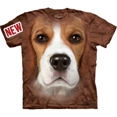 Beagle Face Adult T-Shirt by -