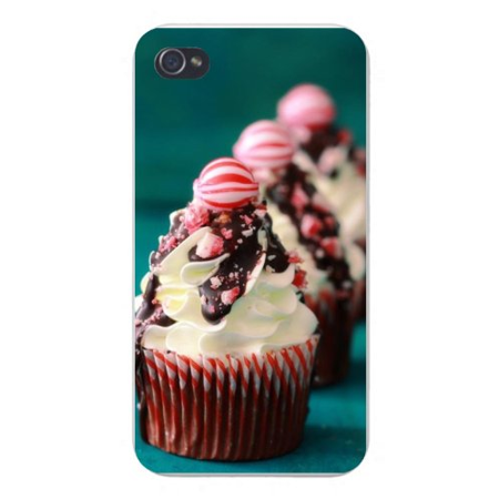 Apple Iphone Custom Case 5 / 5s White Plastic Snap on - Frosting Chocolate Covered Cupcakes in a Row - Halloween Cupcakes Chocolate Frosting