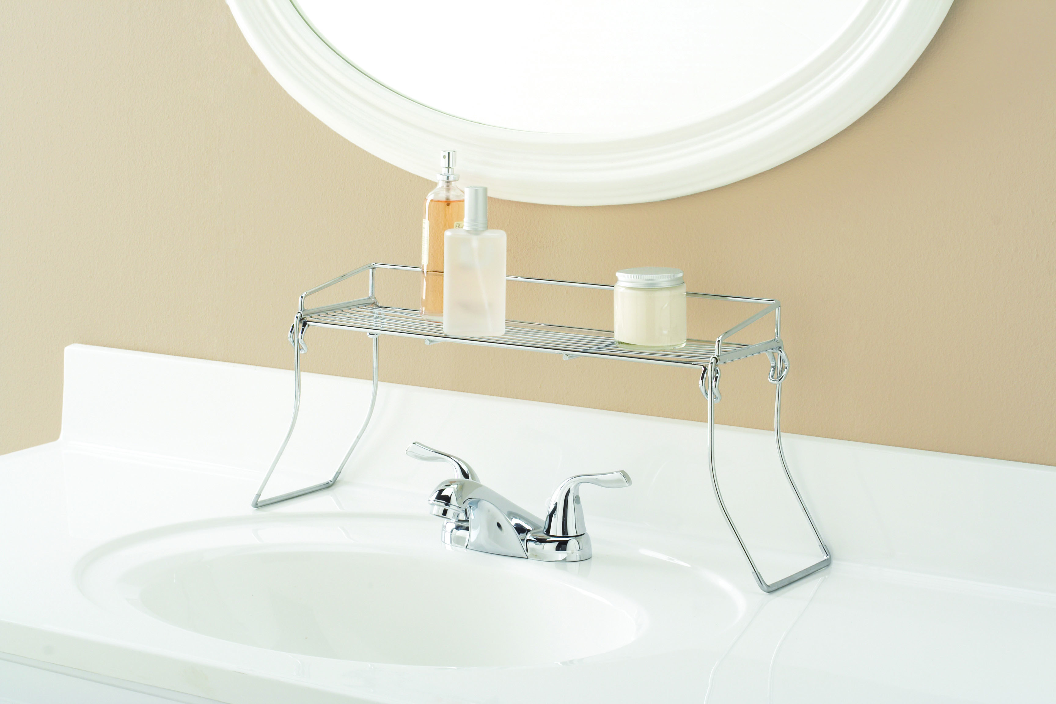 Sink Bathroom Metal Shelf