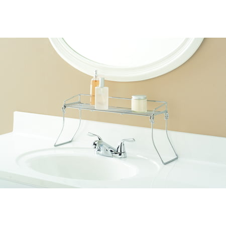 Mainstays Over the Sink Shelf, Chrome Finish Model