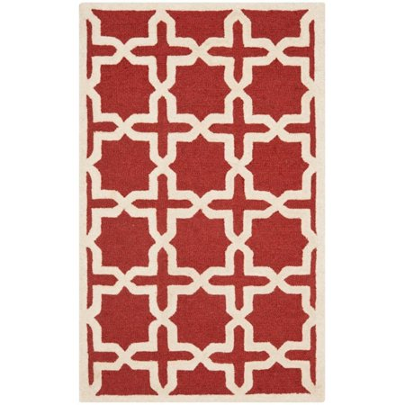 Safavieh Cambridge 4' X 6' Hand Tufted Wool Rug in Rust and Ivory - image 5 de 8