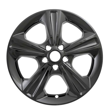 "Set of 4 17"" 5 Spoke Wheel Skins for 2013-2018 Ford Escape - Gloss Black"